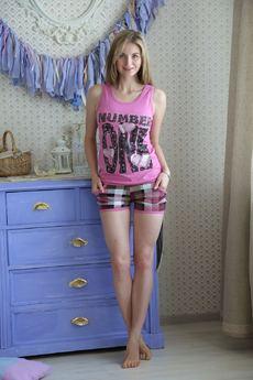 Комплект домашний из 100% хлопка: шорты и майка FIORITA