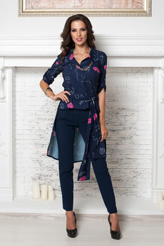 Блузка со шлейфом и поясом Angela Ricci