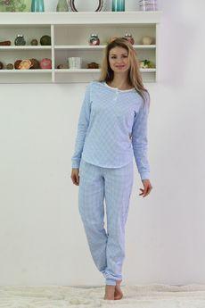 Теплая пижама с начесом: брюки и кофта FIORITA
