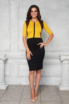 Платье с гипюровой отделкой Angela Ricci
