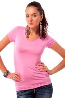 Однотонная розовая футболка Mondigo