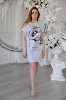 Серое домашнее платье Lika Dress