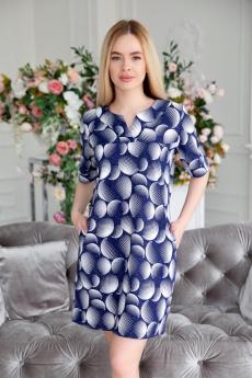 Новинка: синяя хлопковая туника Lika Dress