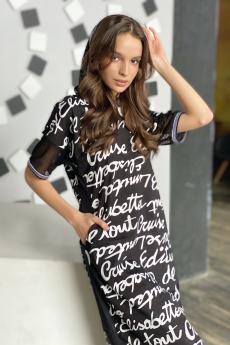 Новинка: черное платье с капюшоном Натали