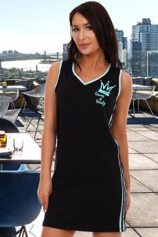 Новинка: черный сарафан в спортивном стиле Натали