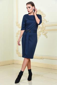 Синее платье с поясом Mondigo