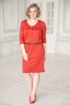 Платье терракотового цвета Angela Ricci